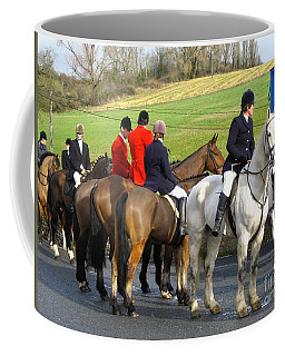 Coffee Mug featuring the photograph Gathering For The Hunt by Suzanne Oesterling