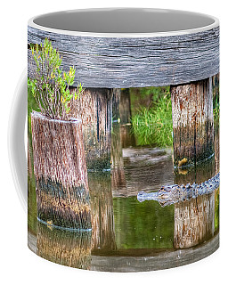 Gator At The Old Trestle Coffee Mug