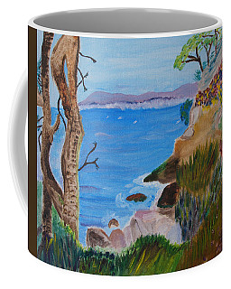 Gazing Out To Sea Coffee Mug by Meryl Goudey