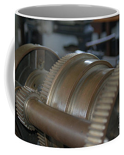 Gears Of Progress Coffee Mug by Patrick Shupert