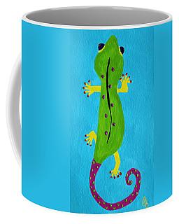 Coffee Mug featuring the painting Gecko Gecko by Deborah Boyd