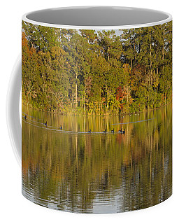 Geese On The Lake In Autumn Coffee Mug