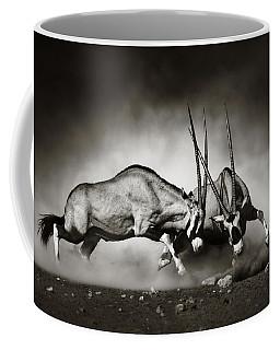 Gemsbok Fight Coffee Mug