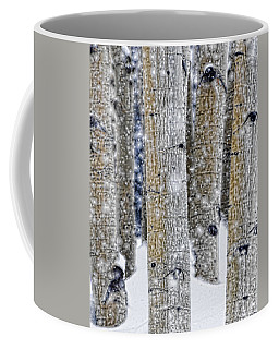 Gently Falling Forest Snow Coffee Mug by Don Schwartz