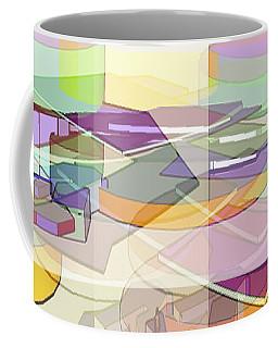 Coffee Mug featuring the digital art Geo-art by Cathy Anderson