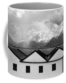 Geometric Architecture In Black And White Coffee Mug