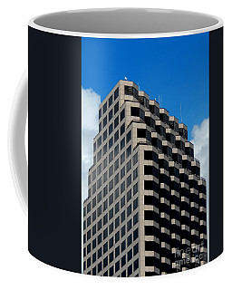 Coffee Mug featuring the photograph New Orleans Geometric Blue Black And White by Michael Hoard