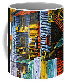 Coffee Mug featuring the painting Geometric Colours I by Xueling Zou