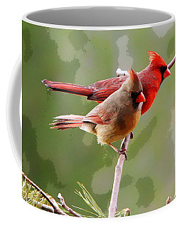 Coffee Mug featuring the photograph George And Gracie by John Freidenberg