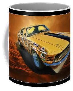 George Follmer 1970 Boss 302 Ford Mustang Coffee Mug