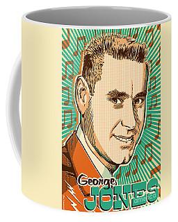 George Jones Pop Art Coffee Mug by Jim Zahniser