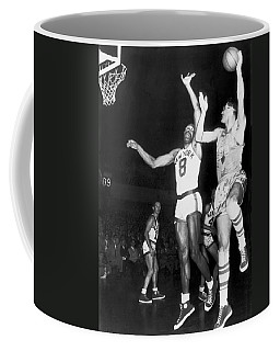 George Mikan Hook Shot Coffee Mug
