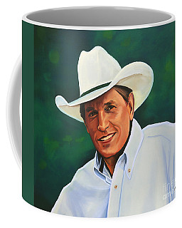 George Strait Coffee Mug by Paul Meijering