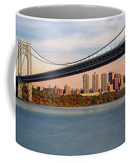 George Washington Bridge In Autumn Coffee Mug