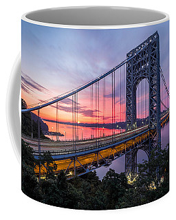 George Washington Bridge Coffee Mug by Mihai Andritoiu