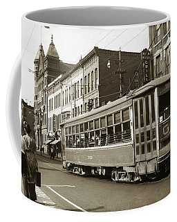 Georgetown Trolley E Market St Wilkes Barre Pa By City Hall Mid 1900s Coffee Mug
