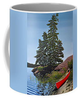 Georgian Bay Beached Canoe Coffee Mug