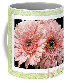 Coffee Mug featuring the photograph Gerber Daisy Love 4 by Andee Design