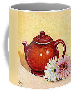 Coffee Mug featuring the painting Gerberas by Katherine Miller