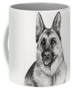 German Shepherd Drawn In Charcoal Coffee Mug