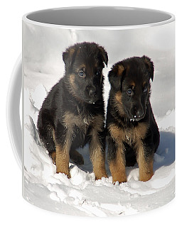 German Shepherd Pups Coffee Mug by Aimee L Maher Photography and Art Visit ALMGallerydotcom