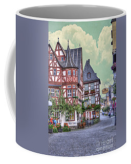 German Village Along Rhine River Coffee Mug