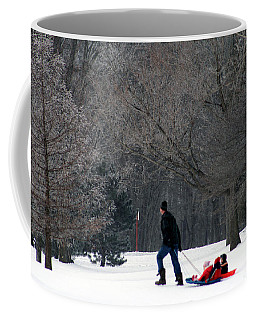 Coffee Mug featuring the photograph Getty-up Daddy by Kay Novy