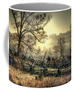 Gettysburg At Rest - Sunrise Over Northern Portion Of Little Round Top Coffee Mug