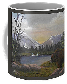 Ghost Bear-the Cascade Grizzly Coffee Mug