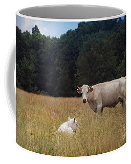 Ghost Cow And Calf Coffee Mug