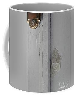 Ghost Doorbell Moth Coffee Mug