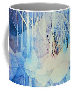 Coffee Mug featuring the painting Ghost Forest by Teresa Ascone