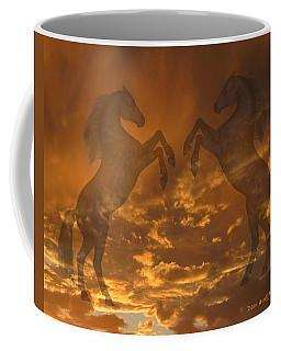 Ghost Horses At Sunset Coffee Mug