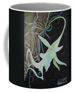 Ghost Orchid On A Palm Tree Coffee Mug