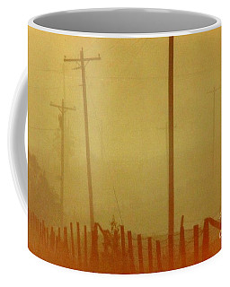 Coffee Mug featuring the photograph Mississippi Ghostly Morning by Michael Hoard