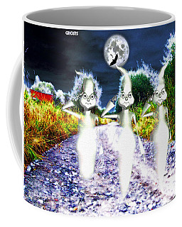Coffee Mug featuring the digital art Ghosts by Daniel Janda
