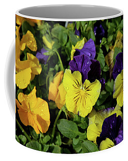 Giant Garden Pansies Coffee Mug by Ed  Riche