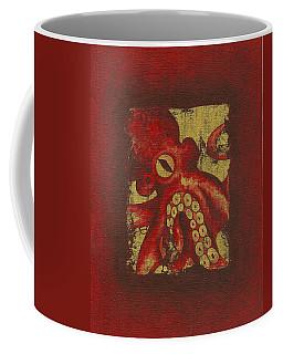 Giant Red Octopus Coffee Mug