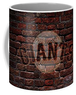 Giants Baseball Graffiti On Brick  Coffee Mug