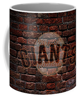 Giants Baseball Graffiti On Brick  Coffee Mug