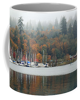 Gig Harbor In The Fog Coffee Mug