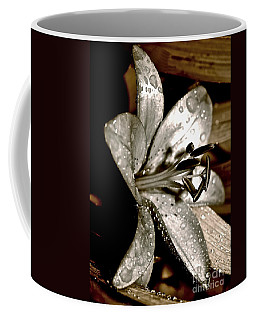 Coffee Mug featuring the photograph Gilded Lilies 3 by Linda Bianic