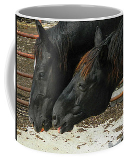 Coffee Mug featuring the photograph Gimme That Apple by Kathy Barney