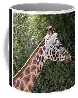 Coffee Mug featuring the digital art Giraffe 01 by Paul Gulliver
