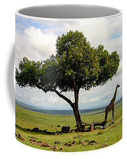 Giraffe And The Lonely Tree  Coffee Mug