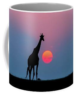 Giraffe At Sunset Chobe Np Botswana Coffee Mug
