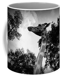 Giraffe Bw - Global Wildlife Center Coffee Mug by Beth Vincent