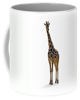 Coffee Mug featuring the photograph Giraffe by Charles Beeler