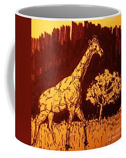 Giraffe  In Habitat Coffee Mug