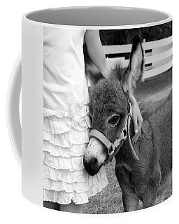Girl And Baby Donkey Coffee Mug by Brooke T Ryan